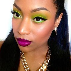 Love the purple and lime color combo