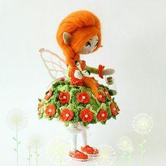 Модница запросила ушко украсить)  ___________________ Каркасная кукла . Итальянский хлопок. Рост 18 см. Вес 50 гр  #эльф #кукларучнойработы #amigurumidoll #amigurumi #handmadedolls #фея #сказка #фентези #fantasy #artdoll #collectiondoll #куколка #интерьернаякукла