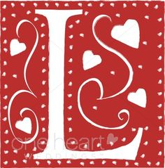 Red Letter L Clipart