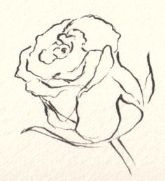 How Do You Draw Flowers? Drawing Flowers The post How Do You Draw Flowers? appeared first on Diy Flowers. Rose Sketch, Flower Sketches, Drawing Sketches, Flower Drawings, Sketching, Plant Drawing, Painting & Drawing, Drawing Drawing, Easy Drawings