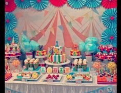 "Circus/Carnival / Birthday ""Circus 1st Birthday"" 