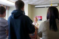 Tammy speaks to students UW-Oshkosh