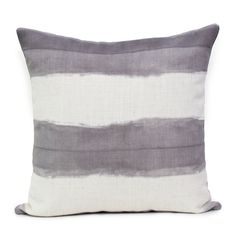 Shibori Stripe - Silver  Cushion