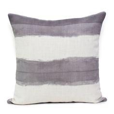 Shibori Stripe - Silver  Cushion