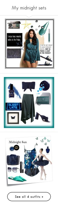 """My midnight sets"" by greensparkle1 ❤ liked on Polyvore featuring StyleGrab, Giorgio Armani, Chantecaille, Madewell, Miu Miu, Lemaire, Simply Vera, Solid & Striped, Loeffler Randall and Eyeko"