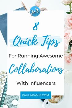 8 Quick Tips For Running Awesome Collaborations With Influencers Business Tips, Online Business, Business Coaching, Business Women, Network Marketing Tips, Media Marketing, Direct Sales Tips, Leaving Home, All Family