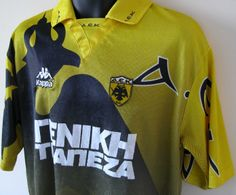 Nice Kappa AEK Athens shirt Retro Football Shirts, Football Photos, Team Shirts, Kappa, Athens, Memories, Nice, Sports, Jackets