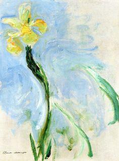 Yellow Iris Claude Oscar Monet- 1917