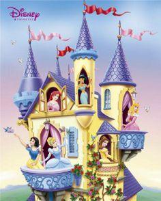 Disney Prinsessen Kasteel Posters Bestellen Niet Goed = Geld Terug