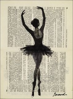 ballerina - ink drawing