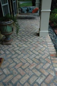 Image result for brick tile front porch