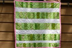 Handquilted Modern Baby Quilt