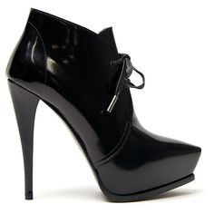 Lanvin Point-toe Tie Bootie