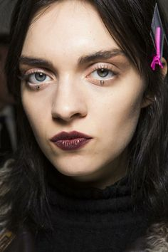 MSGM Beauty A/W '14 :: berry-stained lips