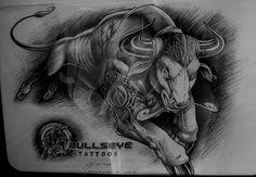 34 Meilleures Images Du Tableau Byki Bull Tattoos Drawings Et