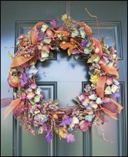 Indian Summer Wreath - Ribbon woven through wreath?