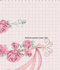Cross Stitch Rose, Cross Stitch Embroidery, Cross Stitch Patterns, Bargello, Bed Spreads, Bed Sheets, Crochet, Needlework, Projects To Try