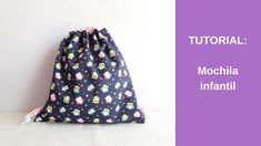 Costura Diy, Drawstring Backpack, Backpacks, Quilts, Sewing, Bags, Youtube, Videos, Projects