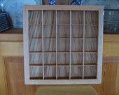 Shadow Box - Nick Nak Display Box - Thimble Display - Oak Curio - Oak Shadow Box