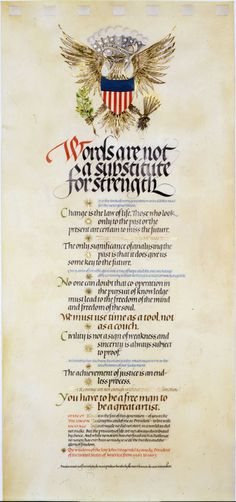 Stunning calligraphy from Donald Jackson, a calligrapher to HRH Queen Elizabeth II.