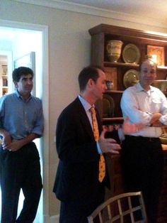 Delegate Jon Cardin addresses those who attended his event, including Matt Gerson on the left.