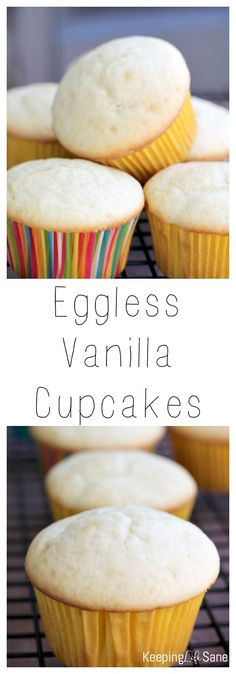 These are the BEST tasting cupcakes EVER! You would never have guessed they were eggless. You've got to try them. Perfect for any birthday.