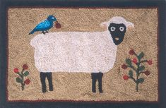 Patterns and Kits for Beginning Rug Hookers Rug Hooking Kits, Sheep, Crafty, Rugs, Berries, Pattern, Animals, Design, Home Decor