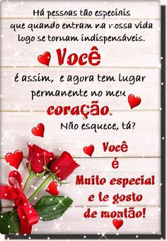 Há Pessoas Tão Especiais Que Se Tornam Indispensáveis em Nossas Vidas, Te Amo | Mensagens de Carinho Portuguese Quotes, Best Homemade Dog Food, Dog Treat Recipes, Love Quotes, Love You, Pasta, Sandro, Facebook, Heart