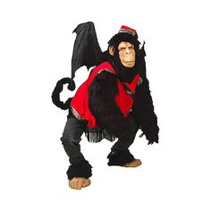 Flying Monkey Super Deluxe Costume ❤ liked on Polyvore featuring costumes, ladies halloween costumes, wizard of oz adult costumes, adult halloween costumes, adult ladies halloween costumes and deluxe womens halloween costumes