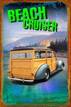 California Logo, Station Wagon, Metal Signs, Hot Rods, Beach Cruisers, Hamilton, Magnets, Graphics, Stickers
