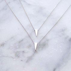 Double Edge Layered Necklace (S) #anarchystreet