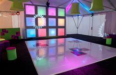 Cool Vinyl Design on a White Dance Floor