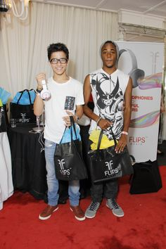 Aramis Knight and Khylin Rhambo attend at Red Carpet Events LA Teen Choice Gifting Suite 2013