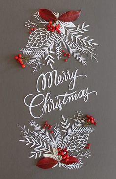 Weihnachtlicher Scherenschnitt. Papierdeko zu Weihnachten. Sieht bestimmt toll aus als Karte oder in einem Bilderrahmen.