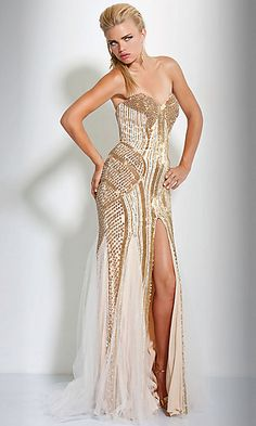 when i get my louboutins I'm buying this to go along with it!  Jovani, Gorgeousss