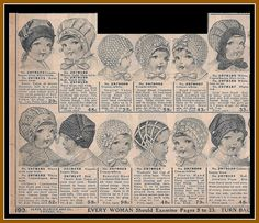 1916 Knitted bonnets, toques, auto hoods, Sears