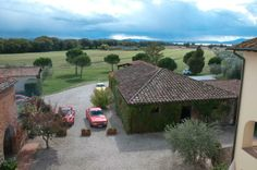 A panoramic view of the fields around La Fattoria del Rio di Sopra. Agriturismo in Umbria. Lago Trasimeno