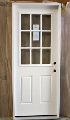 "MASONITE Belleville Prehung Entry Door 32""x 80"" 9-Lite Left White 49416 d186 New #Masonite"