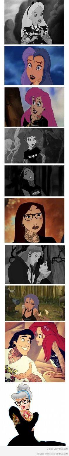 I like Disney princesses better like this