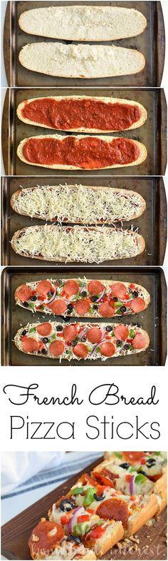 French Bread Pizza Sticks