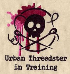 """""""Urban Threadster in Training""""  Stitch shirts and more for the Urban Threadsters of tomorrow!  UT3146; UT3147 (Machine Embroidery)  00358365-102912-0745-8"""
