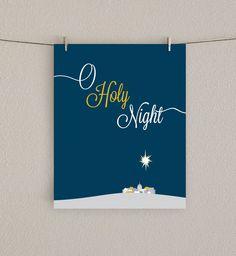 O Holy Night Christmas Art Print