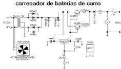 carregadorlm317 Circuito carregador de baterias automotiva usando LM317 e 2N3055 fontes circuito circuito carregadores de baterias automovel
