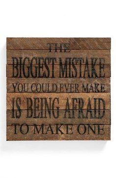 Afraid of a Mistake