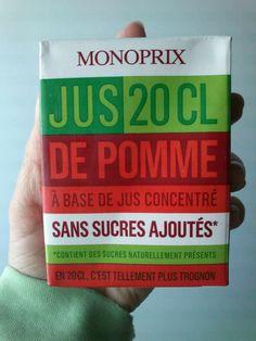 Monoprix. Apple juice.