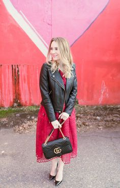 Best Dresses for Valentine's Day | How to Dress Up a Moto Jacket