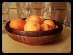 Ash bowl with segmented Walnut rim