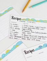 DIY Printable Coloring Recipe Card