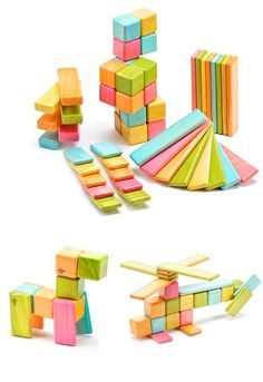 Tegu Magnetic Blocks Toy Set. Safe corners, water-based non-toxic paint, made from sustainable hardwood. Part of proceeds go to fund schools or trees planted in Honduras. #ecofriendly #toys
