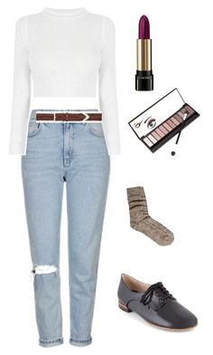 """""""Untitled #556"""" by mikeysfaveslice on Polyvore featuring Topshop, rag & bone, Lancôme, Clarks, ASOS and Neiman Marcus"""